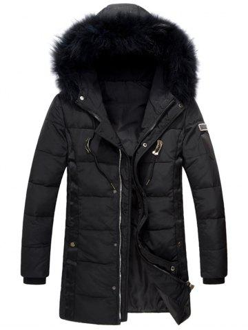 Hooded Zip Up Quilted Down Coat