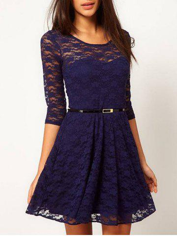 Shop Lace See Thru A Line Dress