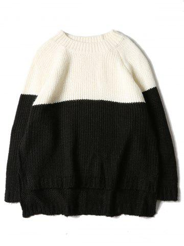 Pull en Tricot à Manches Raglan Color Block