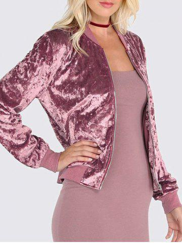 Velvet Zip Up Jacket