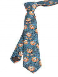 Vintage Peacock Feather Skinny Necktie - PEACOCK BLUE