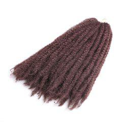 Long Fluffy Afro Kinky Curly Braids Synthetic Hair Weave - DARK AUBURN