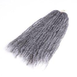 Long Fluffy Afro Kinky Curly Braids Synthetic Hair Weave - GRAY