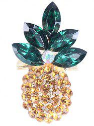 Rhinestone Insert Pineapple Shape Brooch -