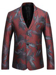 Two-button Eagle Print Casual Blazer - RED S