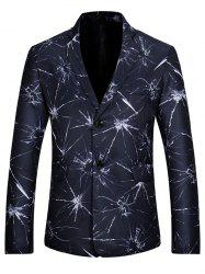 Crystal Dye Casual Slim Fit Blazer - BLUE M