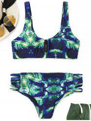Printed Bralette Bikini Set - COLORMIX XL