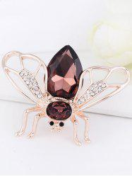 Faux Gem Embellished Cicada Shape Alloy Brooch -