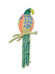 Rhinestone Parrot Bird Branch Brooch -