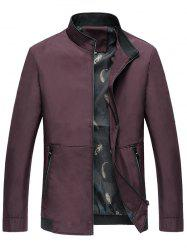 Classic Stand Collar Zip Up Jacket -