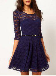 Lace See Thru A Line Dress -