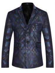 Lapel Feather Print Casual Blazer -