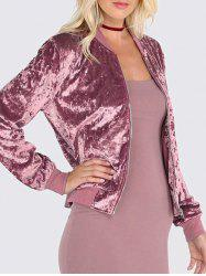 Velvet Zip Up Jacket -