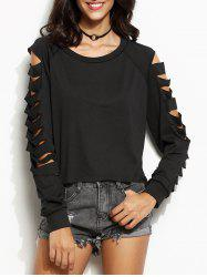 Ladder Cut Out Long Sleeve Tee -