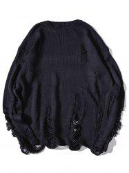Sweat en tricot affligé -