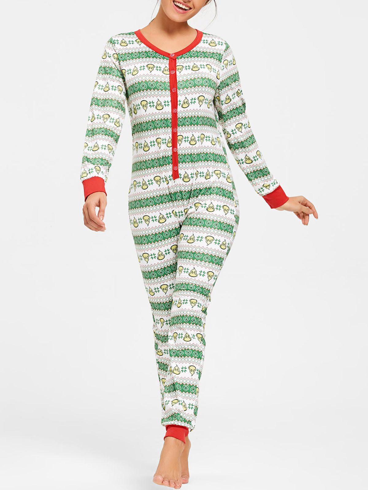 Buy Printed Christmas One Piece Pajama