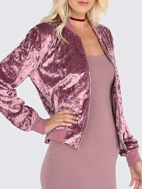 Outfit Velvet Zip Up Jacket