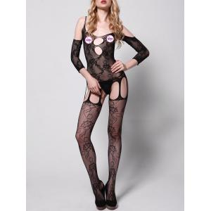 Cut Out Fishless Backless Bodystocking -