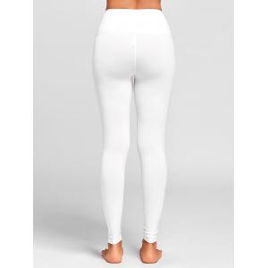 Sports  High Rise Criss Cross Leggings - WHITE S