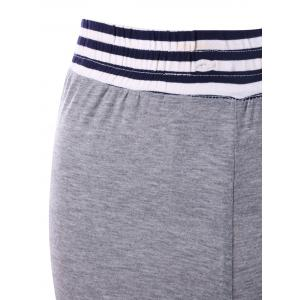 Striped Panel Maxi Flare Pants - GRAY M