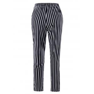 Stripe Print Tapered Pants -