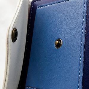 Color Block Bi Fold Wallet - BLUE