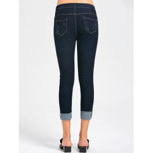Rose Broderie Ripped Capri Jeans -