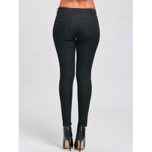 Skinny High Waist Jeans - BLACK 2XL