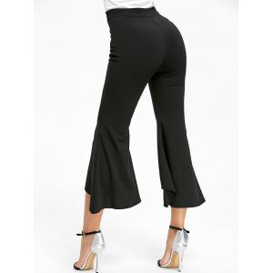 Ninth High Waisted Bell Bottom Pants - BLACK S