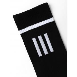 Crew Socks with Letter Pattern -