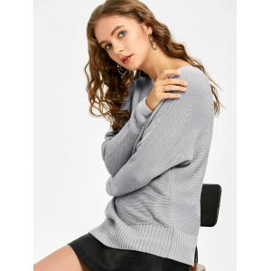 Batwing Sleeve Slash Neck Casual Sweater -