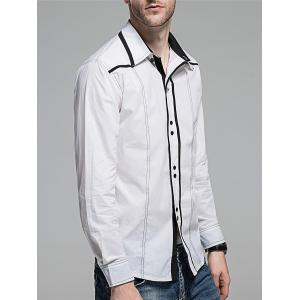 Contrast Trim Button Down Shirt -