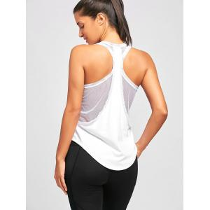 Sports Mesh Insert Layering Tank Top -