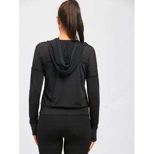 Sheer Breathable Sports Hooded T-shirt -