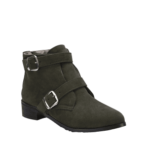 Ankle Stitching Buckle Strap Boots -