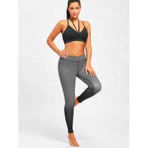 Fitness Argyle Printed Ombre Leggings -
