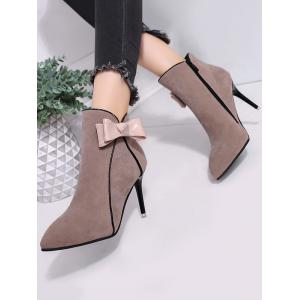 Ankle Stiletto Heel Bow Boots -