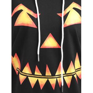 Halloween Plus Size Pumpkin Face Funny Sweatshirt -