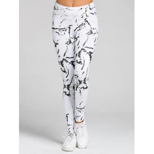 Printed High Waist Gym Skinny Leggings -