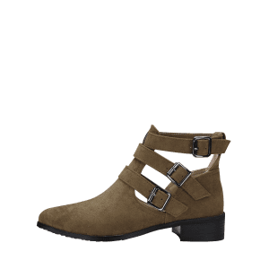 Ankle Buckle Strap Hollow Out Boots -