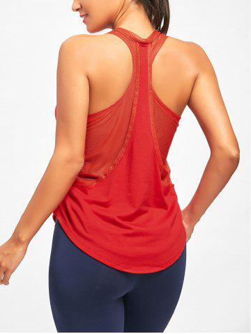 Cheap Sports Mesh Insert Layering Tank Top RED L