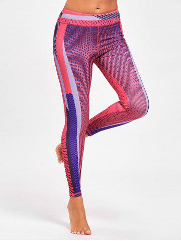 Chic Colorful Striped Funky Gym Leggings