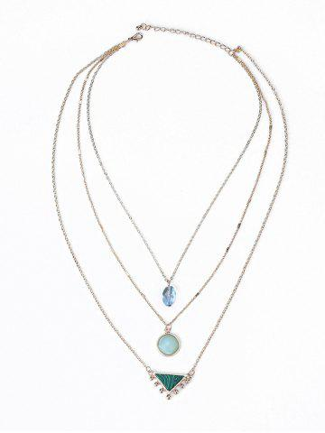 Modèle Illusion Triangle Embellished Three Layered Necklace