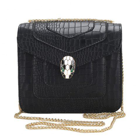 Shop Faux Leather Chain Geometric Crossbody Bag