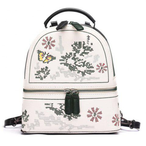 Shops Butterfly Patchwork Flower Backpack - BLACK  Mobile