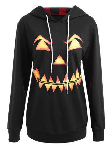 Fashion Halloween Plus Size Pumpkin Face Funny Sweatshirt