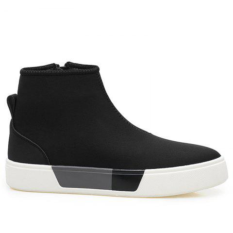 High Top Zipper Skate Shoes Noir 41