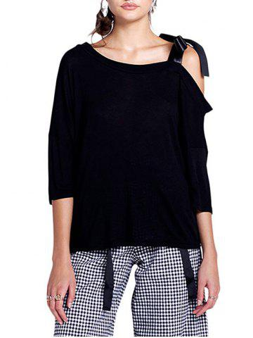 Cold Shoulder Batwing Sleeve Top