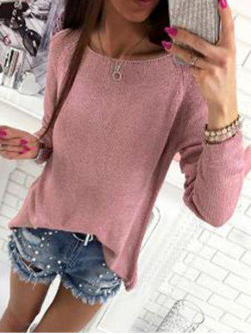 Outfits Back Slit Knitted Sweater