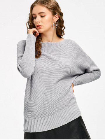 New Batwing Sleeve Slash Neck Casual Sweater